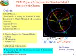 CKM Physics & Beyond the Standard Model Physics with Charm