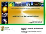 Performance of the Integrated National Electrification Programme