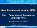 User Requirements Notation (URN) Part 1: Goal-oriented Requirement Language (GRL)