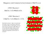 Manganese oxide formation by heat treatment of MnCO 3 in air.