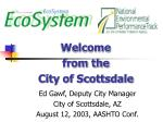 Welcome from the City of Scottsdale