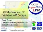 CKM phase and CP Violation in B Decays
