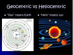 Geocentric vs Heliocentric