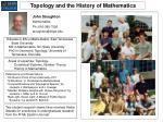 Topology and the History of Mathematics