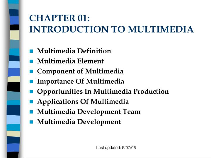 chapter 01 introduction to multimedia n.