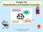 Chapter 1 6 : Doing Business in Transition Economies