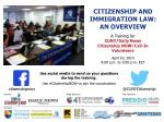 Citizenship and Immigration Law: An Overview