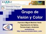 Grupo de Visión y Color