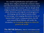 The MUNK Debates, FRIDAY, NOVEMBER 26, 2010