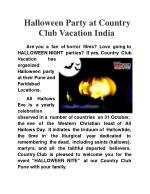 HALLOWEEN Party At Country Club