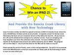 Chance to Win an IPAD 2!