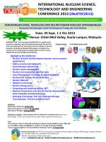 INTERNATIONAL NUCLEAR SCIENCE, TECHNOLOGY AND ENGINEERING CONFERENCE 2013 (iNuSTEC2013)