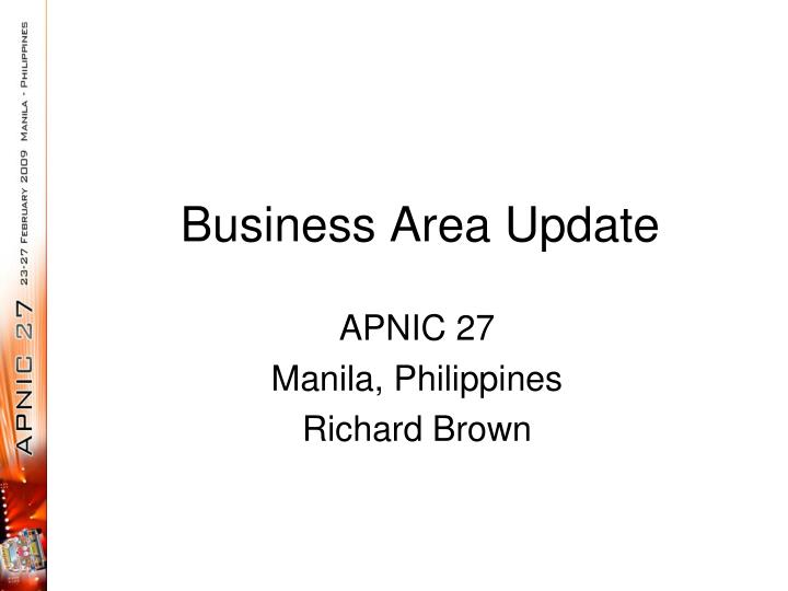 business area update n.