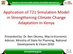 Application of T21 Simulation Model in Strengthening Climate Change Adaptation In Kenya