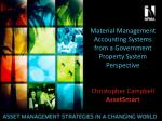Material Management Accounting Systems from a Government Property System Perspective