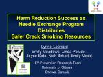 Harm Reduction Success as Needle Exchange Program Distributes Safer Crack Smoking Resources