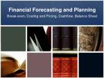 Financial Forecasting and Planning