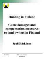 Hunting in Finland - Game damages and compensation measures to land owners in Finland