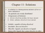 Chapter 11- Solutions