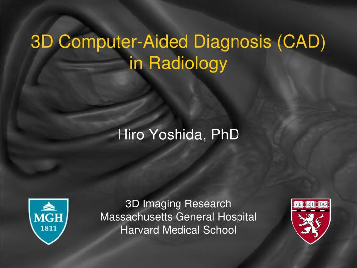 3d computer aided diagnosis cad in radiology n.