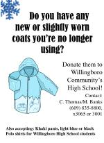 Do you have any new or slightly worn coats you're no longer using?