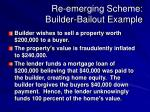 Re-emerging Scheme: Builder-Bailout Example