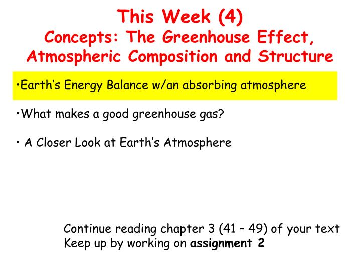 this week 4 concepts the greenhouse effect atmospheric composition and structure n.