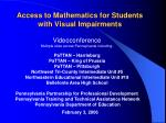 Access to Mathematics for Students with Visual Impairments