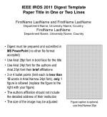 IEEE IROS 2011 Digest Template Paper Title in One or Two Lines