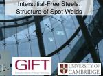 Interstitial-Free Steels: Structure of Spot Welds