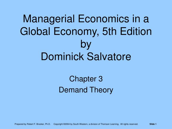 managerial economics in a global economy 5th edition by dominick salvatore n.