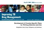 Development of Country-Specific Plans for TB Drug Selection and Use