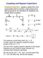 Coupling and Bypass Capacitors