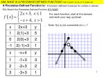 EX) Sketch the Piecewise-Defined Function BY HAND
