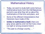 Mathematical History