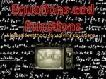 Equations and Functions