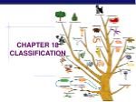 CHAPTER 18 CLASSIFICATION