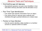 Advance Tools and Techniques