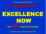 In Search of Excellence /1982-2012 XFX/Cross-functional Excellence PART 4 of 23 EXCELLENCE NOW