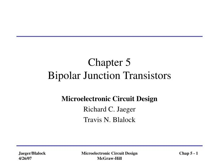 chapter 5 bipolar junction transistors n.