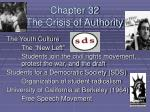 Chapter 32 The Crisis of Authority