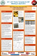 """24"""" x 36"""" Poster Template for IAP Meeting in April 2013"""