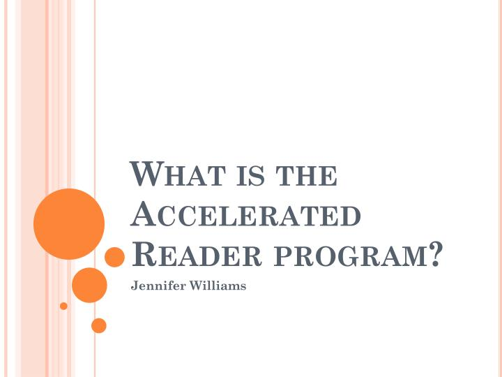 what is the accelerated reader program n.