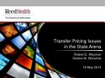 Transfer Pricing Issues in the State Arena