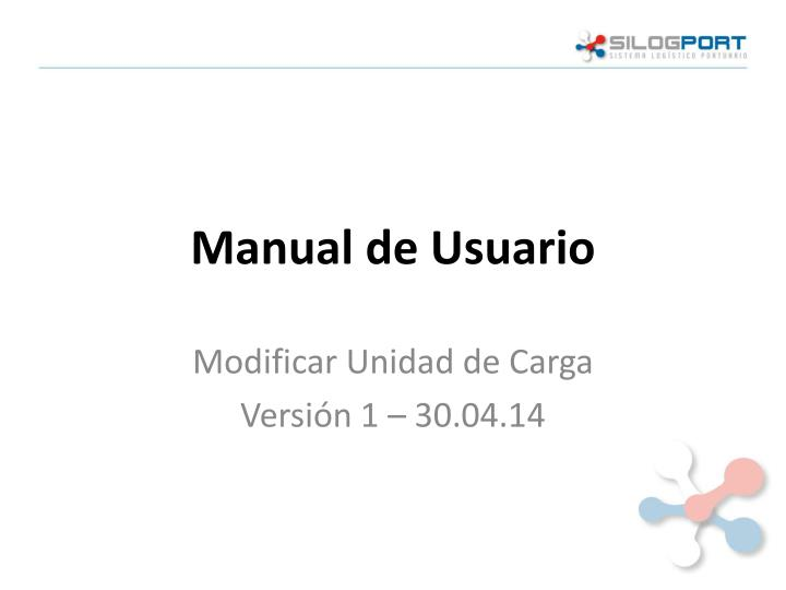 manual de usuario n.