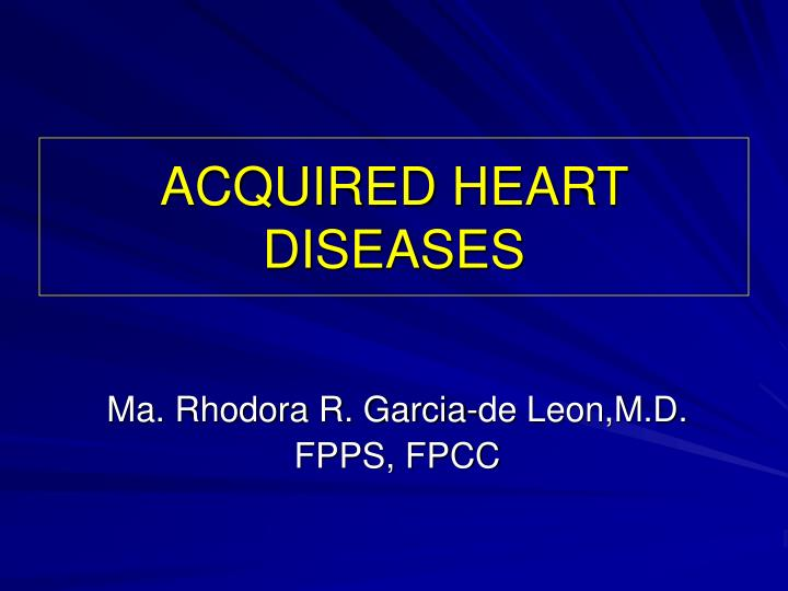 acquired heart diseases n.