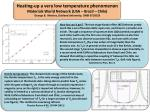 Heating-up a very low temperature phenomenon Materials World Network (USA – Brazil – Chile )