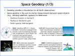 Space Geodesy (1/3)