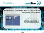 Professional Card design and printing Software Design your world in a card