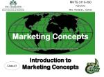 Marketing Concepts Introduction to Marketing Concepts